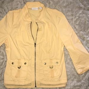 CHICOS spring yellow jacket